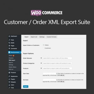 WooCommerce Customer/Order XML Export Suite